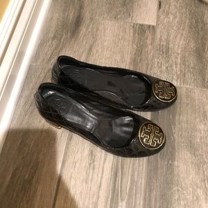Tory Burch stacked black heel
